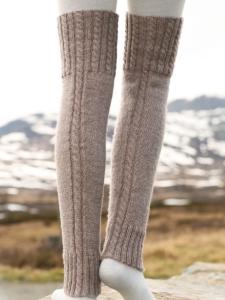 Меланжевые гетры в скандинавском стиле