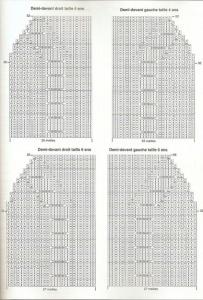 Схема по вязанию жилетки с большим воротником