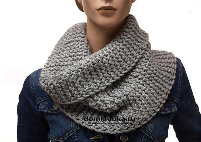 Вариант вязания шарфа трубы