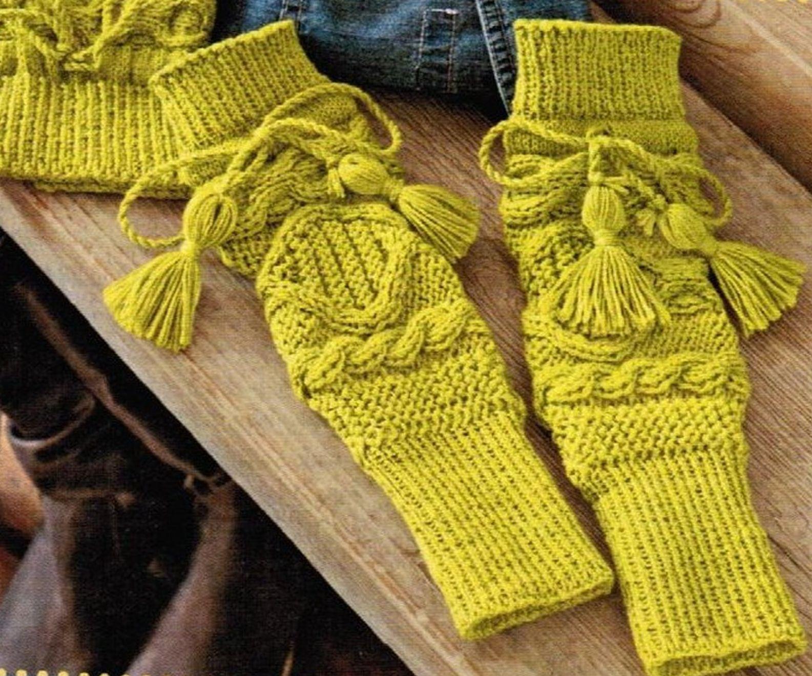 схемы вязания спицами косы носки