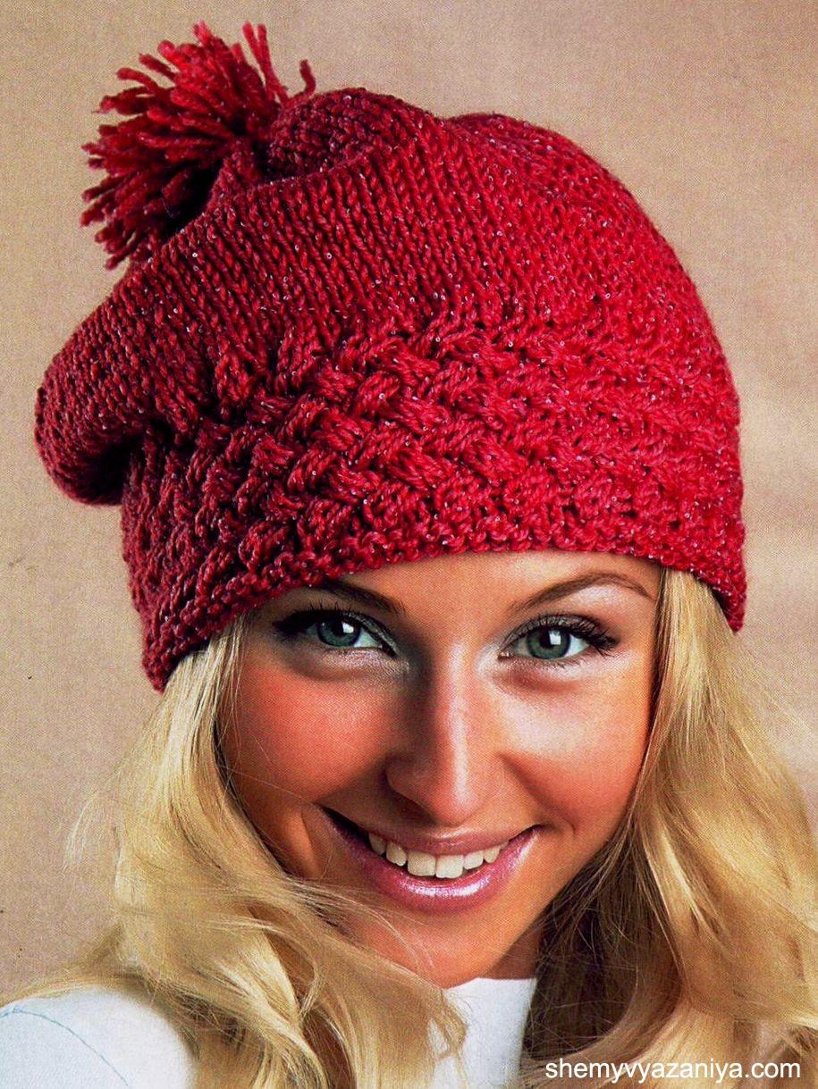 Вязаные шапки (151 фото для женщин 50 лет, модные модели осень-зима) 74