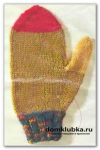 Как вязать детские рукавицы