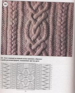 """Схема вязания узора """"косы"""""""