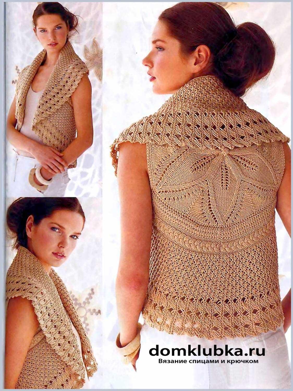 схема вязания спицами безрукавки для женщин