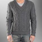 Мужской пуловер со скандинавскими мотивами