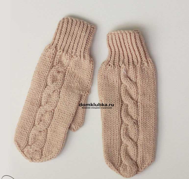 Вязанные рукавицы своими руками
