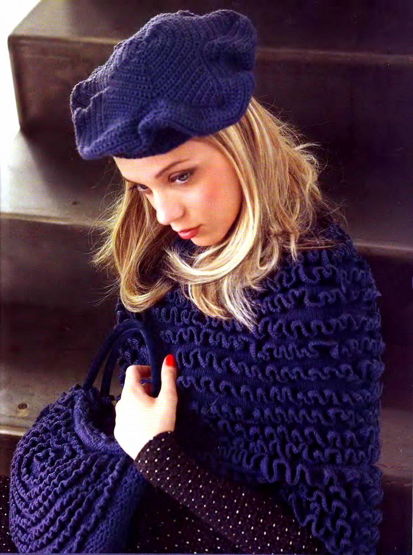 схема обычного шарфа на спицах