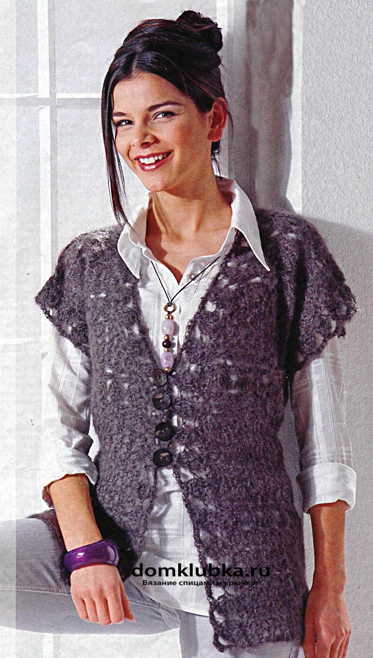 жилетки для женщин спицами со схемами