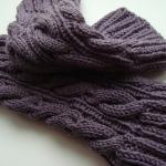 Вязаные гетры с рисунком из кос для повседневной носки