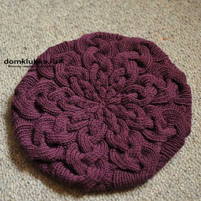 Free Knitting Pattern Cabled Beret : ??? ??????? ??????? ??????