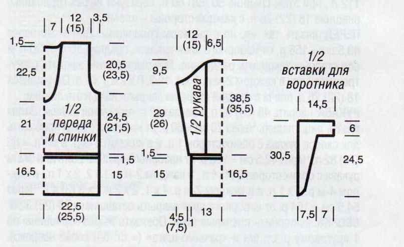 Схема по вязанию женского жакета