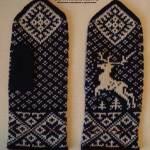 Мужские рукавицы с оленем