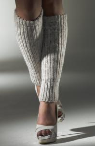 Серые женские гетры в резинку