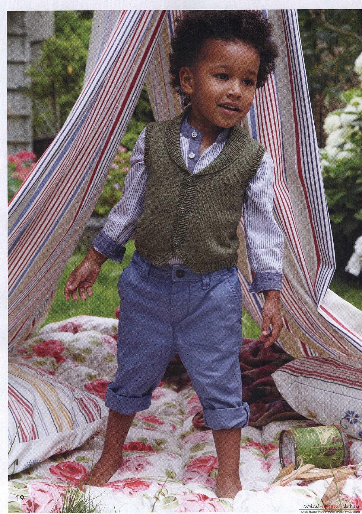 схемы вязание детского жилета