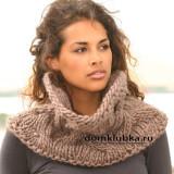 Как связать объёмный шарф