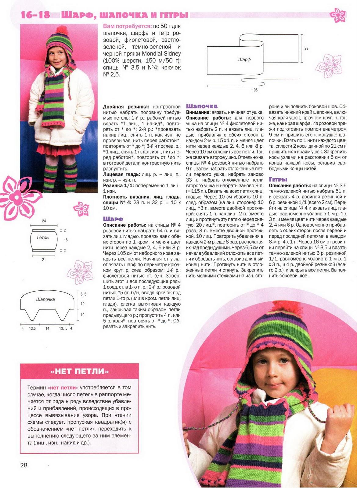 Узоры спицами схемы для шарфов девочке до года