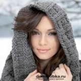 Объемный шарф вязанный спицами