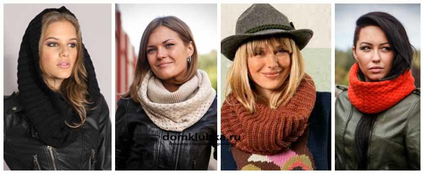 Многообразие хомутов вязанных спицами