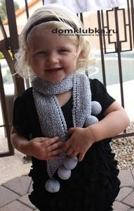 Серый шарф для девочки