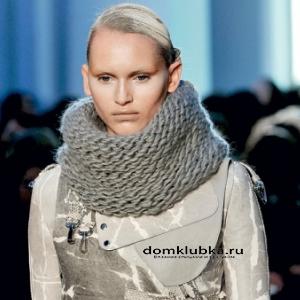 Серый шарф хомут