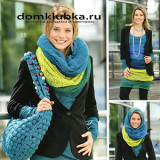 Яркий шарф хомут