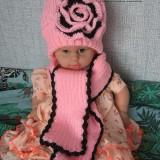 Детский розовый шарф