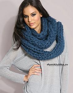 Тёплый шарф хомут