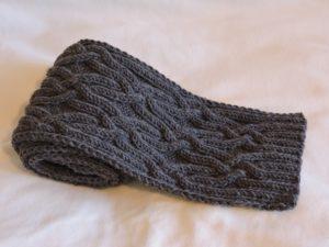 Простой в вязании мужской шарф