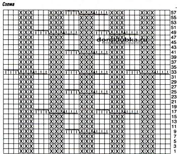 Схема для вязания шарфа