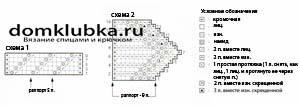 Схема основного узора и планки