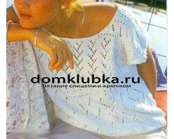 Пушистый ажурный пуловер