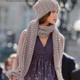 Стильный шарф связаный спицами