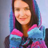 Полосатый круговой шарф