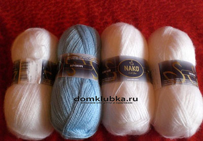 Кид мохер для вязания пуловера