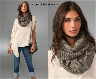 Модный шарф снуд