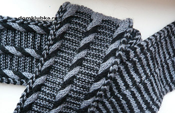 Оригинальный двухцветный шарф