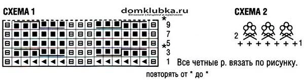 Схема для вязания кофточки