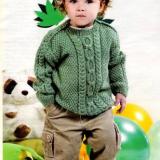 Зелёная кофточка для мальчика