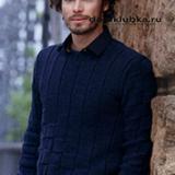 Стильный мужской пуловер
