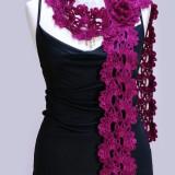 Пурпурный ажурный шарф