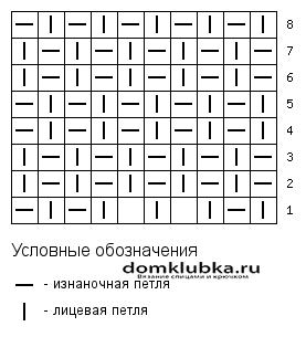 Схема рисового орнамента шарфа