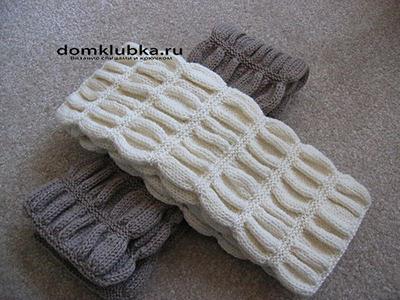 Красивый шарф из однотонной нити