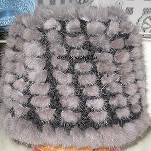 Вязание из меха норки
