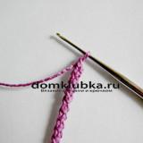Как связать шнурок спицами