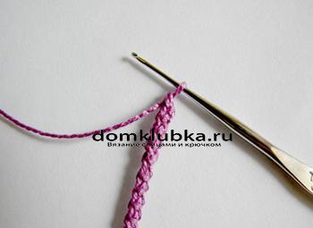 Как связать шнур для платья