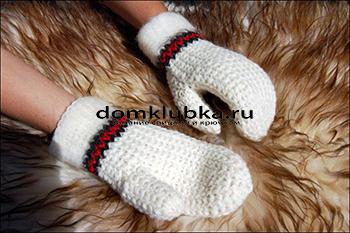 Модные вязаные перчатки