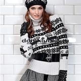 Пуловер с морозным узором