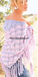 Подготовительный этап вязания шали