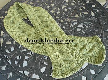 Модный зелёный шарф