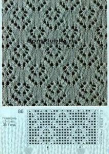 Схема для вязания узора